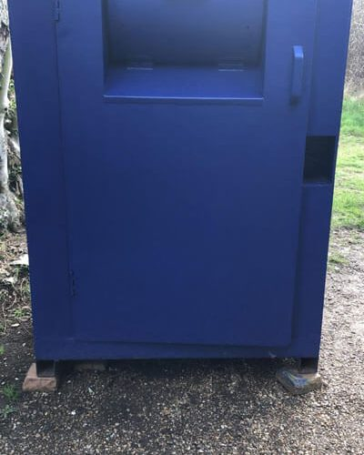 refurbished clothing bin