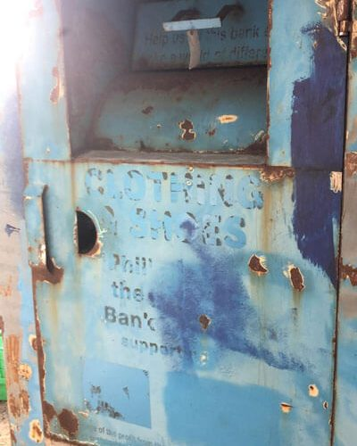 old clothing bin for sale